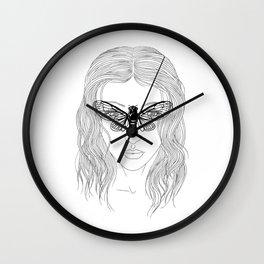 cicada glasses Wall Clock