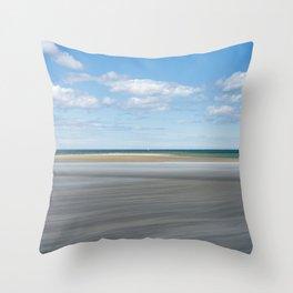 Horizon; Boat Throw Pillow
