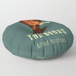 THE BIRDS - Hitchcok Poster Floor Pillow