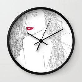 Lexi Hensler Line Art Wall Clock