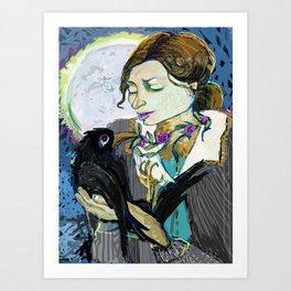 'Communication with the Raven' Art Print