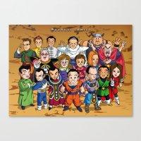 dbz Canvas Prints featuring DBZ Mexican Voice Actors by Neokoi