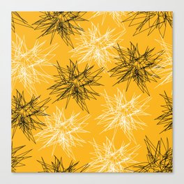 Yellow Squiggles Canvas Print