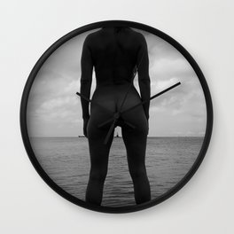 Sea view thigh gap Wall Clock