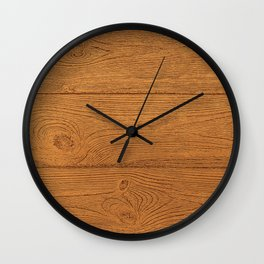 The Cabin Vintage Wood Grain Design Wall Clock