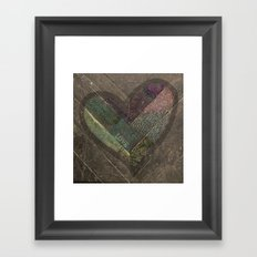 Weathered Love Framed Art Print