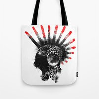 cyberpunk Tote Bags featuring cyberpunk by rope