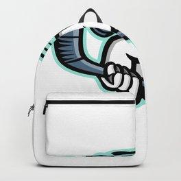 Bull Terrier Ice Hockey Mascot Backpack