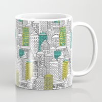 building Mugs featuring Building by AlakaZoo