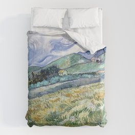 Landscape from Saint-Remy by Vincent van Gogh Comforters