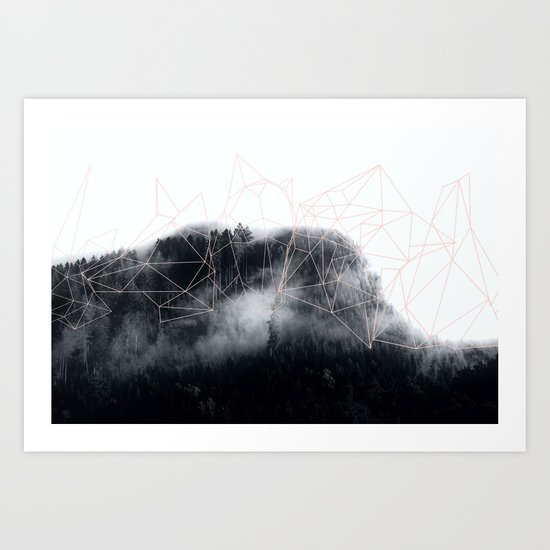 Abstract mountains Art Print
