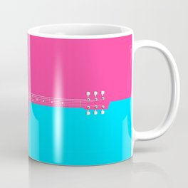 Pink Acoustic Guitar Background Coffee Mug