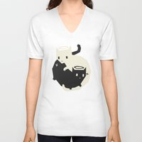 yetiland V-neck T-shirts featuring we need each other by Yetiland