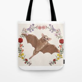 Fruitbat in Floral Wreath Tote Bag