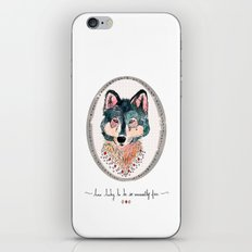 how lucky to be so unusually free iPhone Skin