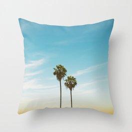 Stay Close to Me (Florida Palms) Throw Pillow