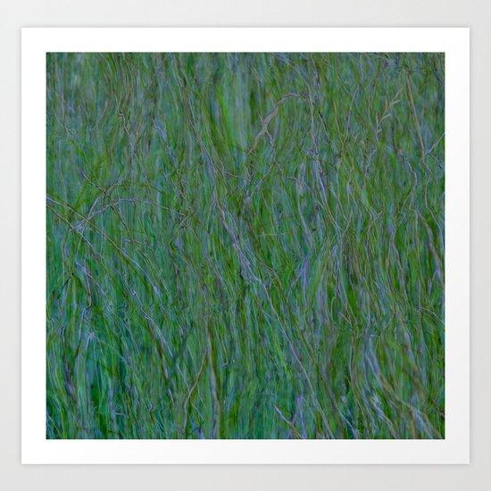 Abstract ~ Grass Art Print