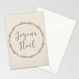 joyeux noel Stationery Cards