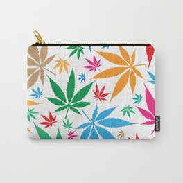 marijuana leaf color pattern Carry-All Pouch