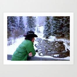 Aspen Cowboy Art Print