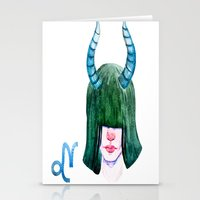 capricorn Stationery Cards featuring Capricorn by Aloke Design