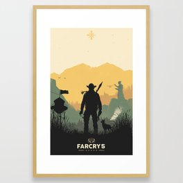 Welcome To Hope County Framed Art Print