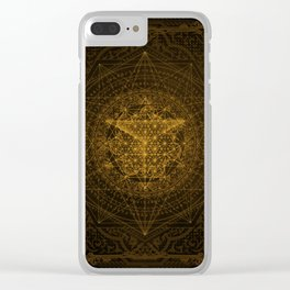 Dark Matter - Gold - By Aeonic Art Clear iPhone Case