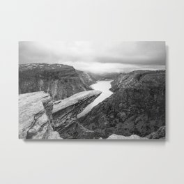 Trolltunga Norway Metal Print