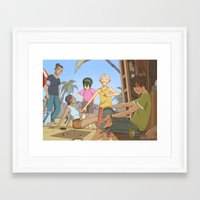 the last airbender Framed Art Prints featuring Avatar the last airbender by Collectif PinUp!