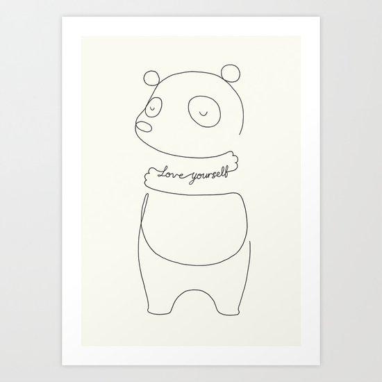 Love Yourself Panda Art Print