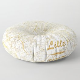 Lille Map Gold Floor Pillow