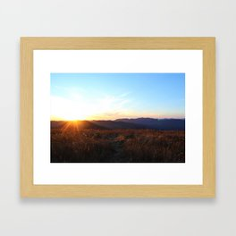 Sunset Black Balsam Knob Framed Art Print