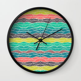 nature art print leaves  Wall Clock