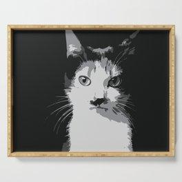 A Feline Mastermind Serving Tray