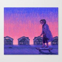 The Skateboarder Canvas Print