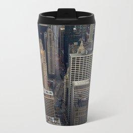 Michigan Avenue Bridge: A Bird's Eye View (Chicago Architecture Collection) Travel Mug
