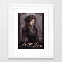 jane eyre Framed Art Prints featuring Jane Eyre by Alicia Froelicher