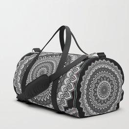 MANDALA IN BLACK AND WHITE Duffle Bag