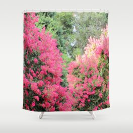 Surrounded by Pink Flowers Shower Curtain
