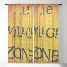 The Twilight Zone Sheer Curtain