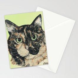 Tortoiseshell Cat-Marybeth_ by Nina Lyman Stationery Cards