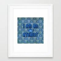 atheist Framed Art Prints featuring Ateaist by Irina Chuckowree