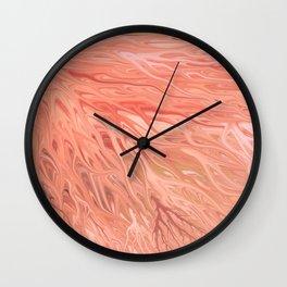 Peach Firegrass by Chris Sparks Wall Clock