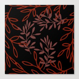 Leafy Red Canvas Print