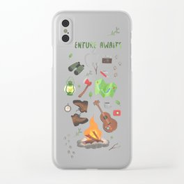 Adventure awaits Clear iPhone Case