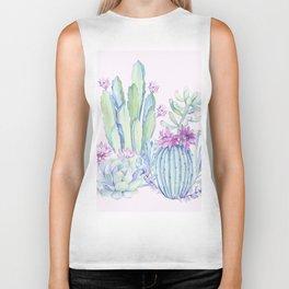 Mixed Cacti Pink #society6 #buyart Biker Tank