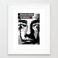 salvador dali Framed Art Prints featuring Salvador Dali by glwadys
