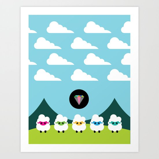 Magic Sheep Art Print