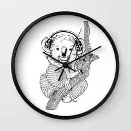 koala loves music Wall Clock