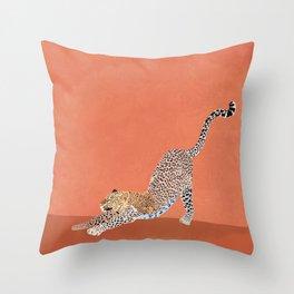 Big Cat Stretch |  Throw Pillow
